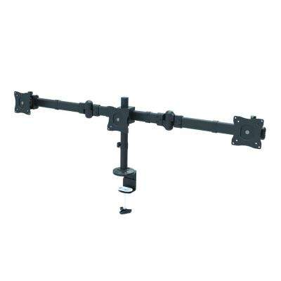 Triple Monitor Desk Mount Arm for 13 in. - 27 in. Screens, Holds 3 Monitors, 30 Degree Tilt, 17.6 lb. Capacity