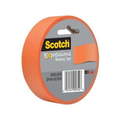 Scotch 0.94 in. x 20 yds. Tangerine Expressions Masking Tape (Case of 36)