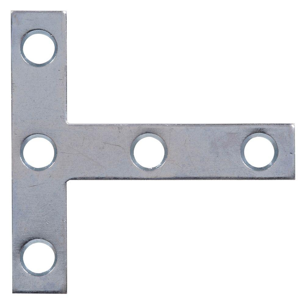 The Hillman Group 3 x 3 in. T-Zinc Plated Plate (5-Pack)
