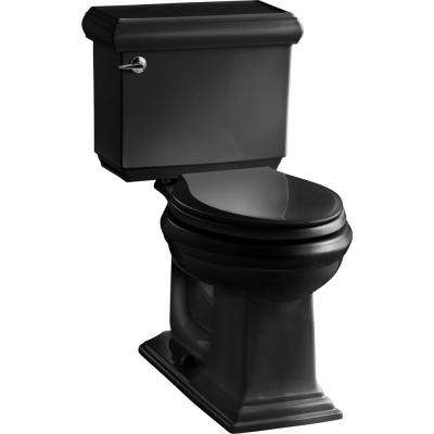 Memoirs Classic 2-piece 1.28 GPF Single Flush Elongated Toilet with AquaPiston Flush Technology in Black Black
