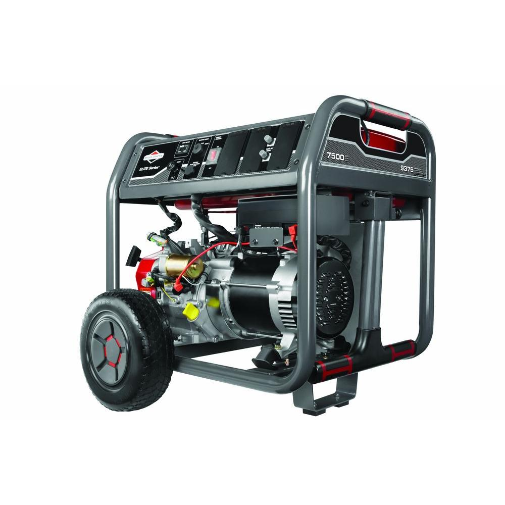Briggs & Stratton 7,500-Watt Gasoline Powered Portable Generator with Briggs Engine