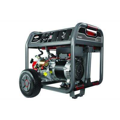 7,500-Watt Gasoline Powered Portable Generator with Briggs Engine