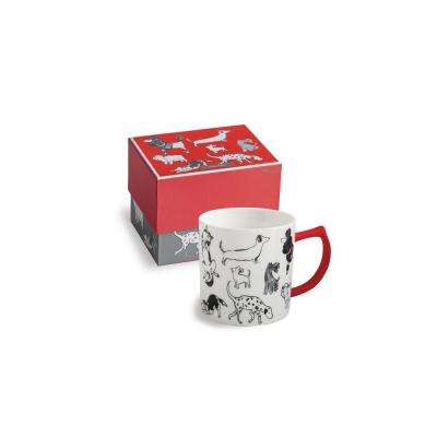 Purr & Wag 14 oz Red Dog Mug
