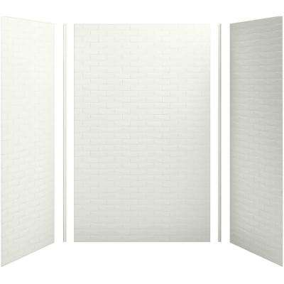 Choreograph 60in. X 36 in. x 96 in. 5-Piece Shower Wall Surround in Dune with Brick Texture for 96 in. Showers