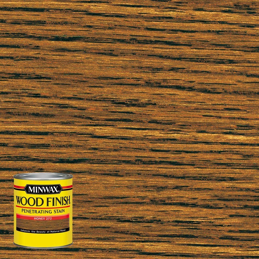 minwax 8 oz wood finish honey oil based interior stain 4 pack 227624444 the home depot. Black Bedroom Furniture Sets. Home Design Ideas