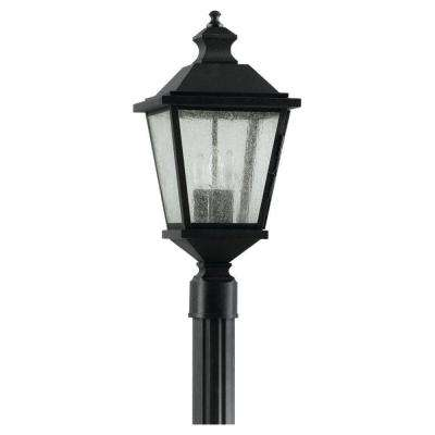 Woodside Hills 3-Light Black Outdoor Post Light