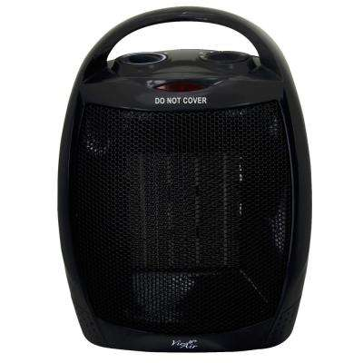 1,500-Watt 2-Settings Electric Portable Ceramic Heater with Adjustable Thermostat