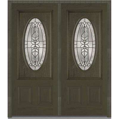 74 in x 8175 in cadence decorative glass 34 oval finished fiberglass