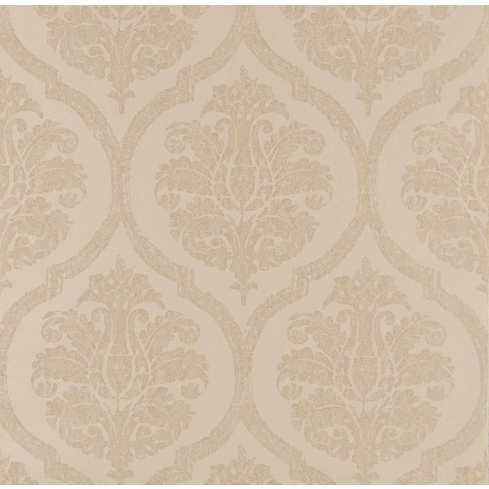 York Wallcoverings Weathered Finishes Leather Damask Wallpaper
