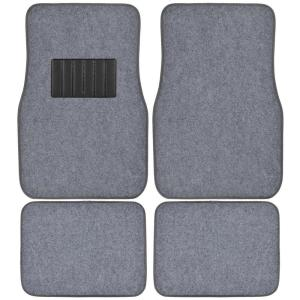 BDK Classic MT-100 Silver Carpet With Rubberized Backing 4-Piece Car Floor Mats by BDK