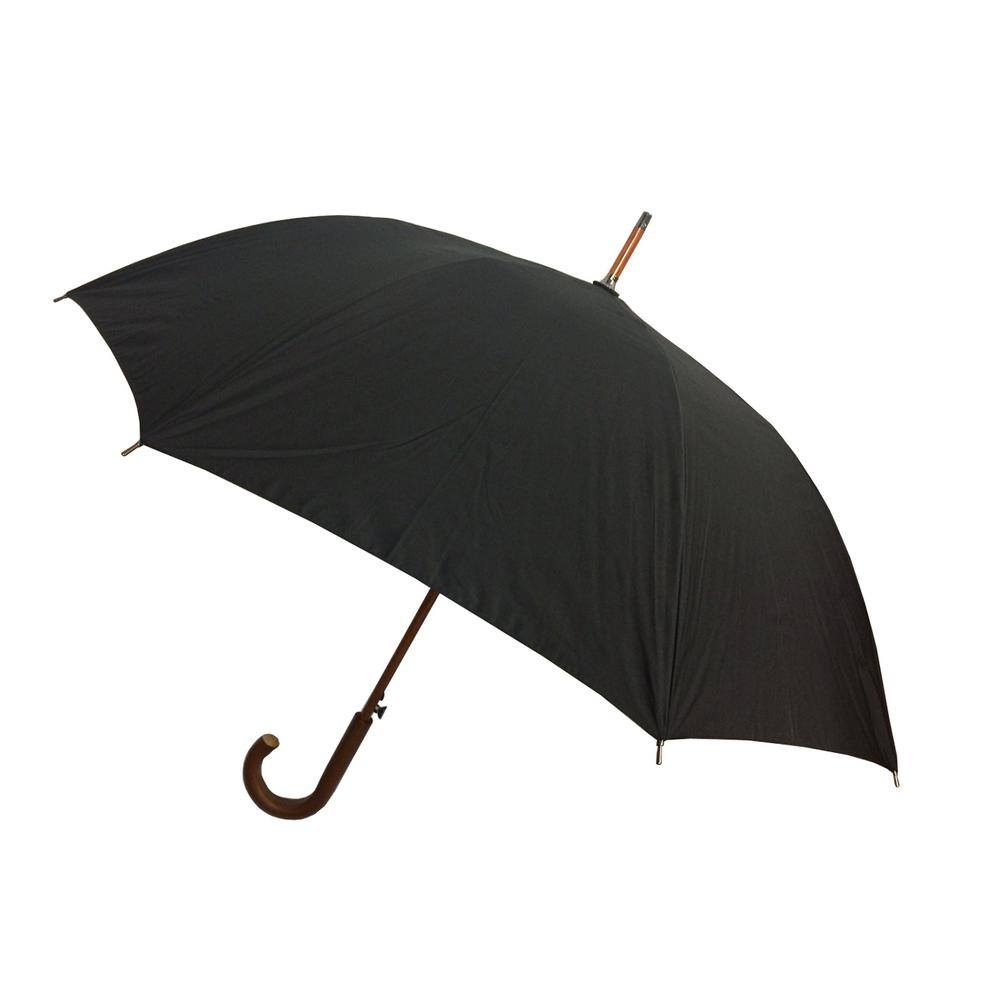 c19e6d336ef5 London Fog 48 in. Arc Canopy Auto Open Stick Umbrella in Black