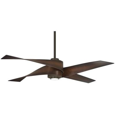 Artemis IV 64 in. Integrated LED Indoor Oil Rubbed Bronze and Toned Tobacco Ceiling Fan with Light with Remote Control