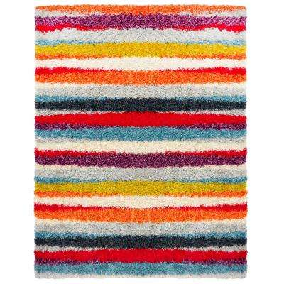 Montana Shaggy Multi 7 ft. 10 in. x 10 ft. 2 in. Indoor Area Rug
