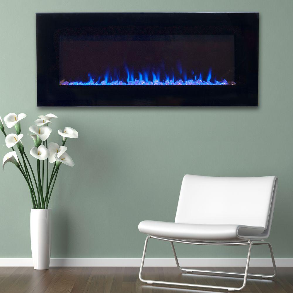Control the temperature and mood of your living space with this Northwest LED Fire and Ice Electric Fireplace with Black Remote.