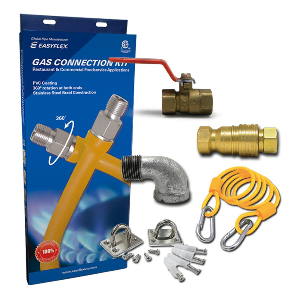EasyFlex 36 in. Commercial Food Service Gas Connection Kit
