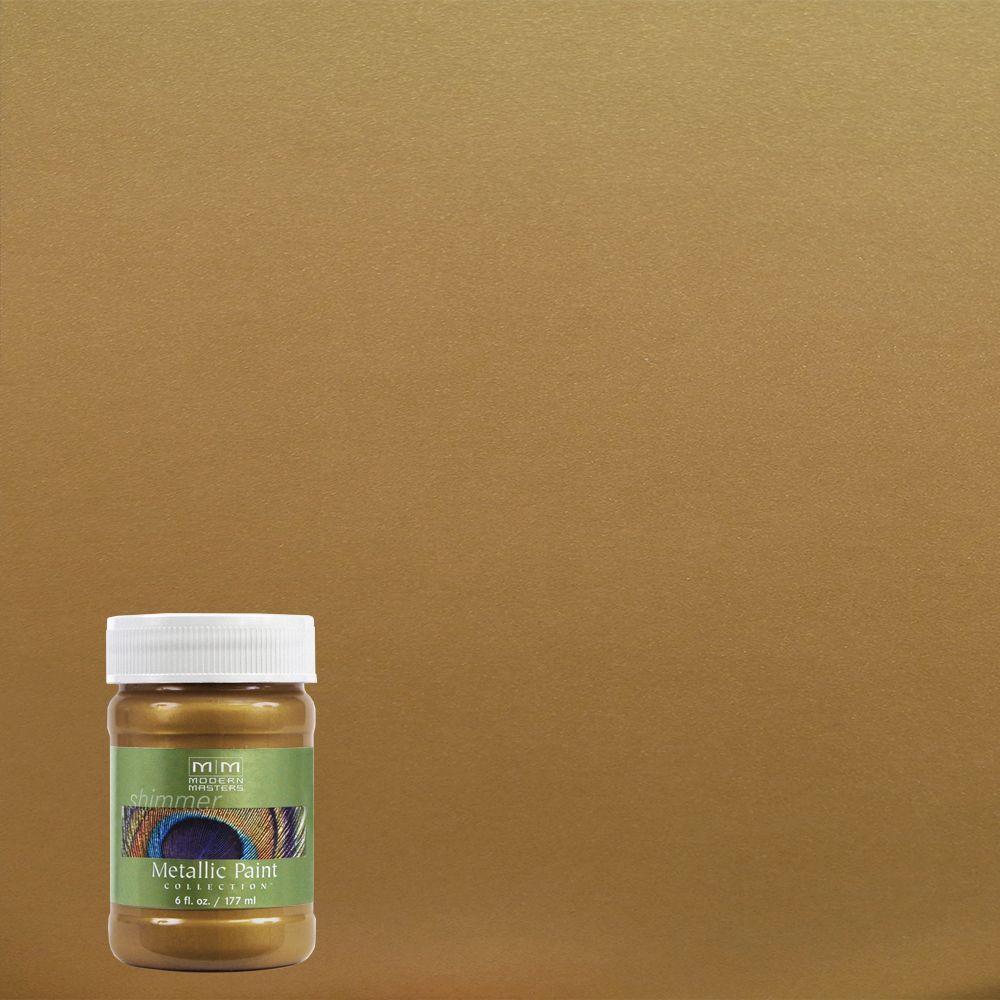 6 oz. Brass Water-Based Satin Metallic Interior Paint