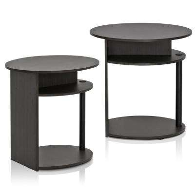 Jaya Walnut Simple Design End Table (2-Pack)