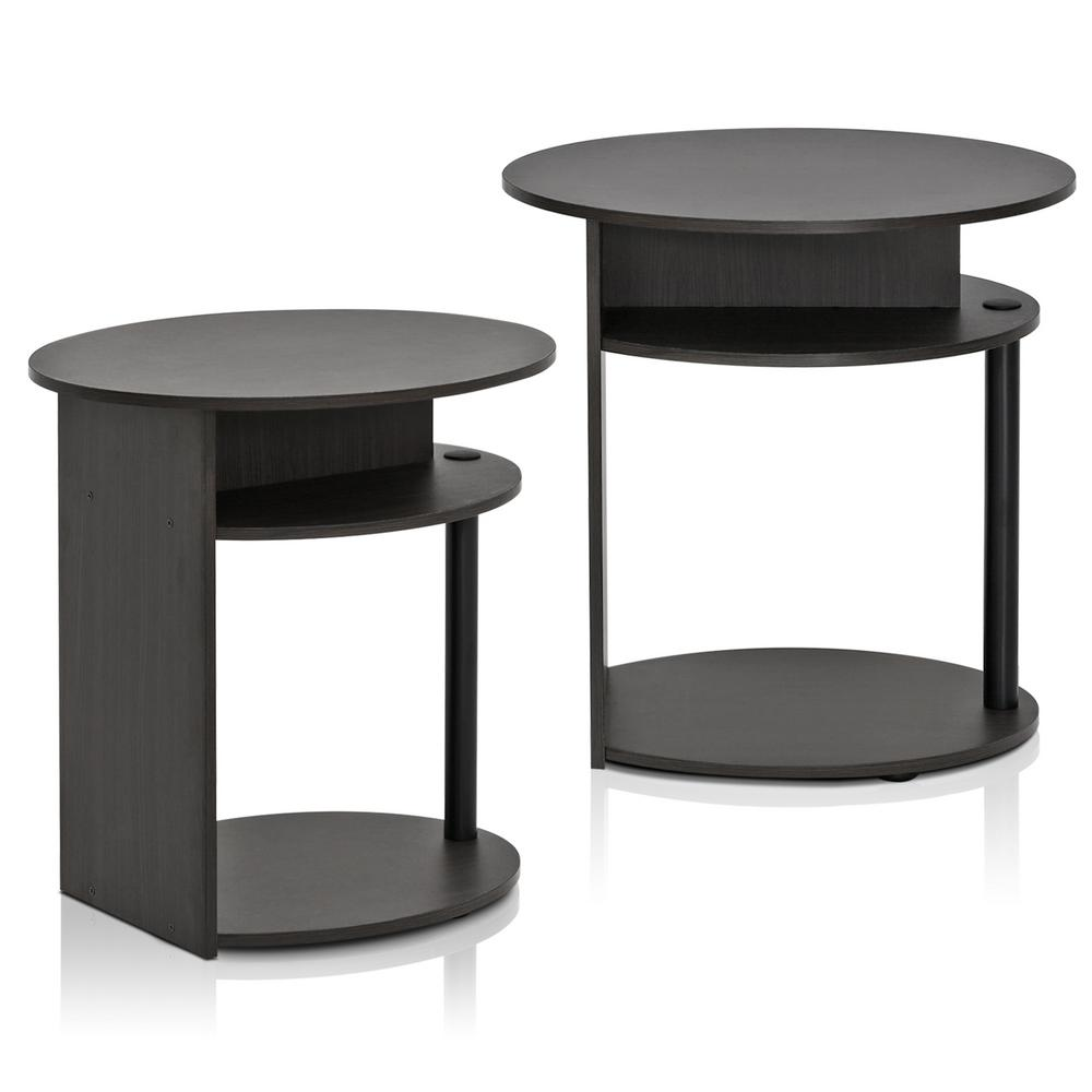 Furinno Jaya Walnut Simple Design End Table 2 Pack