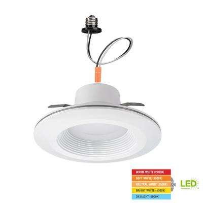 6 in. White Integrated LED Recessed Downlight with Nightlight Trim