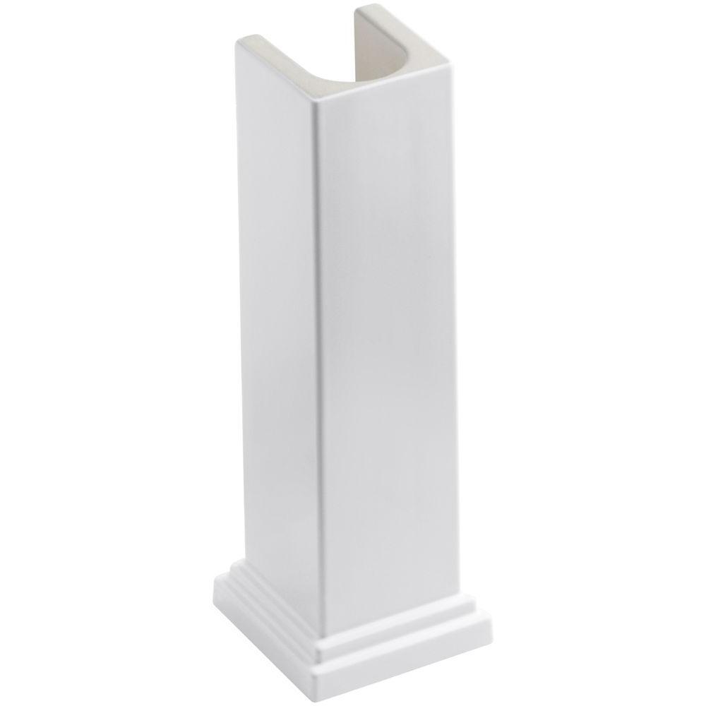 Tresham Fireclay Pedestal in White