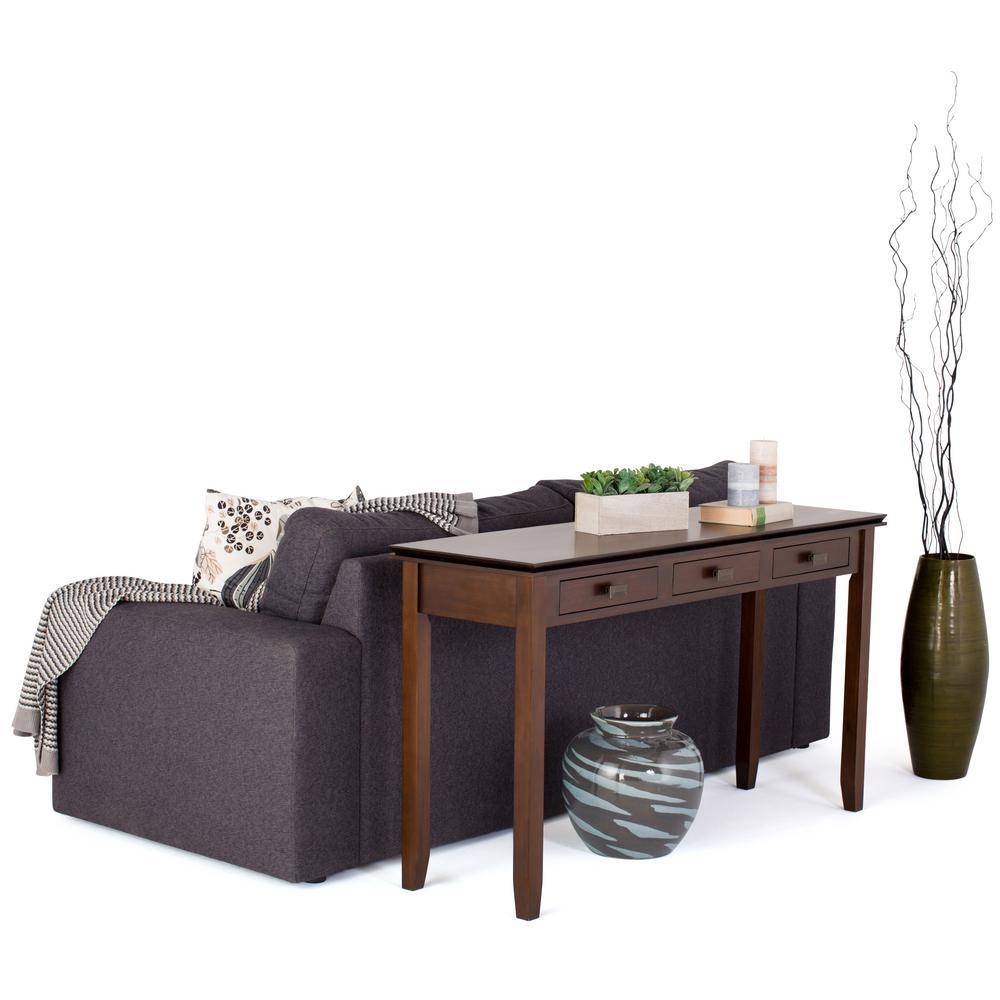 Artisan Medium Auburn Brown Storage Console Table