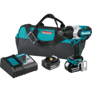 Makita 18-Volt LXT Lithium-Ion Brushless Cordless High Torque 3/4 inch Square Drive Impact Wrench With (2) Batteries... by Makita
