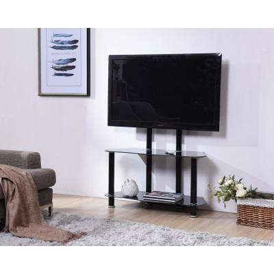 35 in. Wide Glass TV Stand with Mount