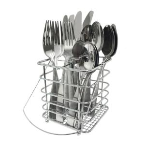 Cambridge Madison Satin 16-Piece Flatware Set with Caddy by Cambridge