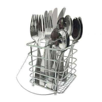 Madison Satin 16-Piece Flatware Set with Caddy
