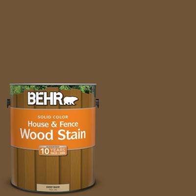 1 gal. #SC-109 Wrangler Brown Solid Color House and Fence Wood Stain