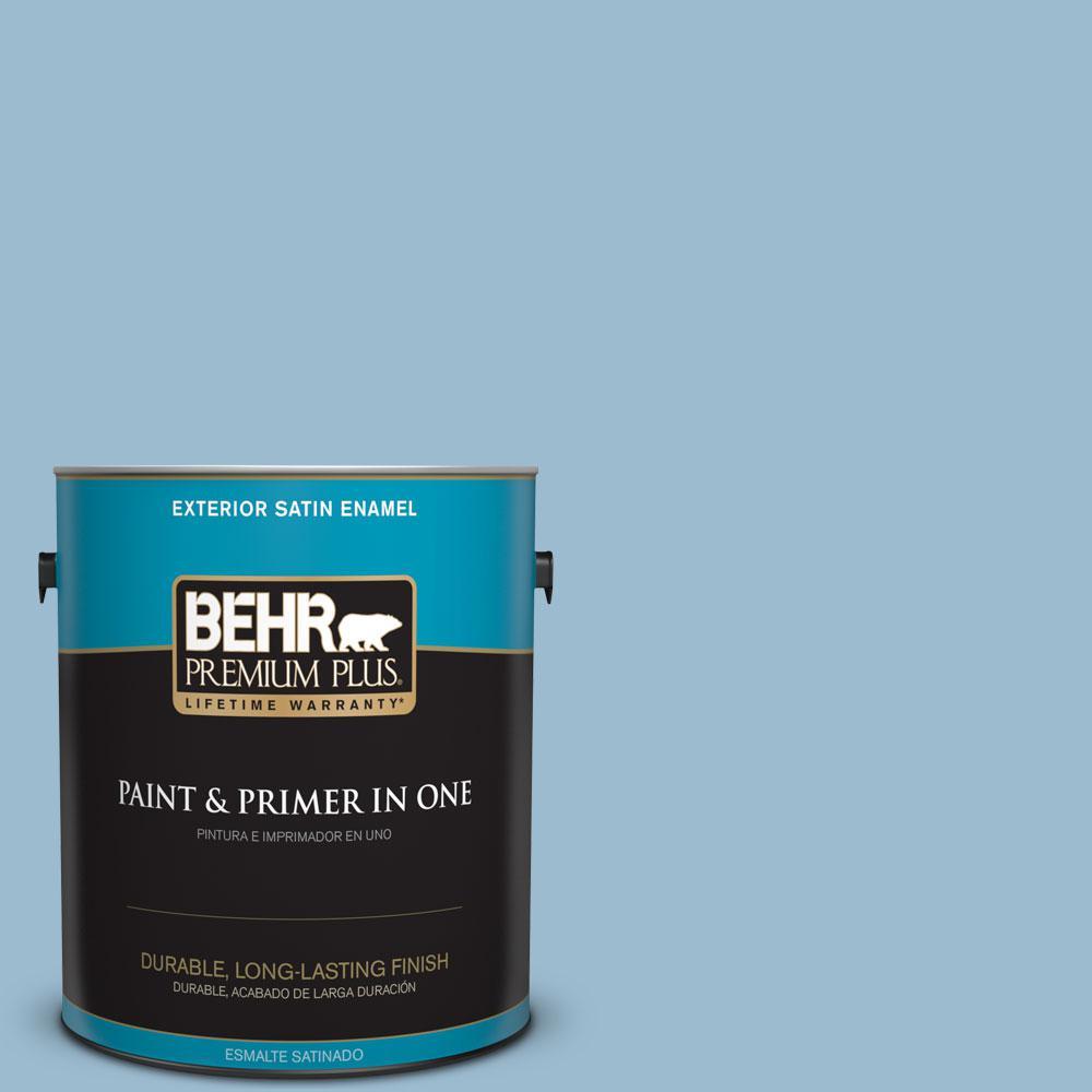 BEHR Premium Plus 1-gal. #S500-3 Partly Cloudy Satin Enamel Exterior Paint