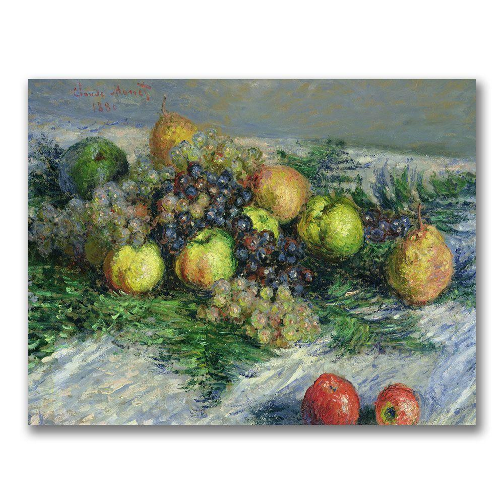 18 in. x 24 in. Still Life with Pears and Grapes