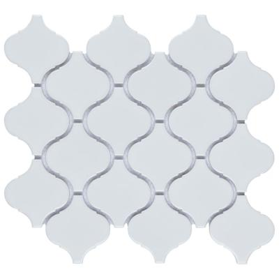 Metro Lantern Glossy White 9-1/2 in. x 10-3/4 in Porcelain Mosaic Tile (7.26 sq. ft./Case)