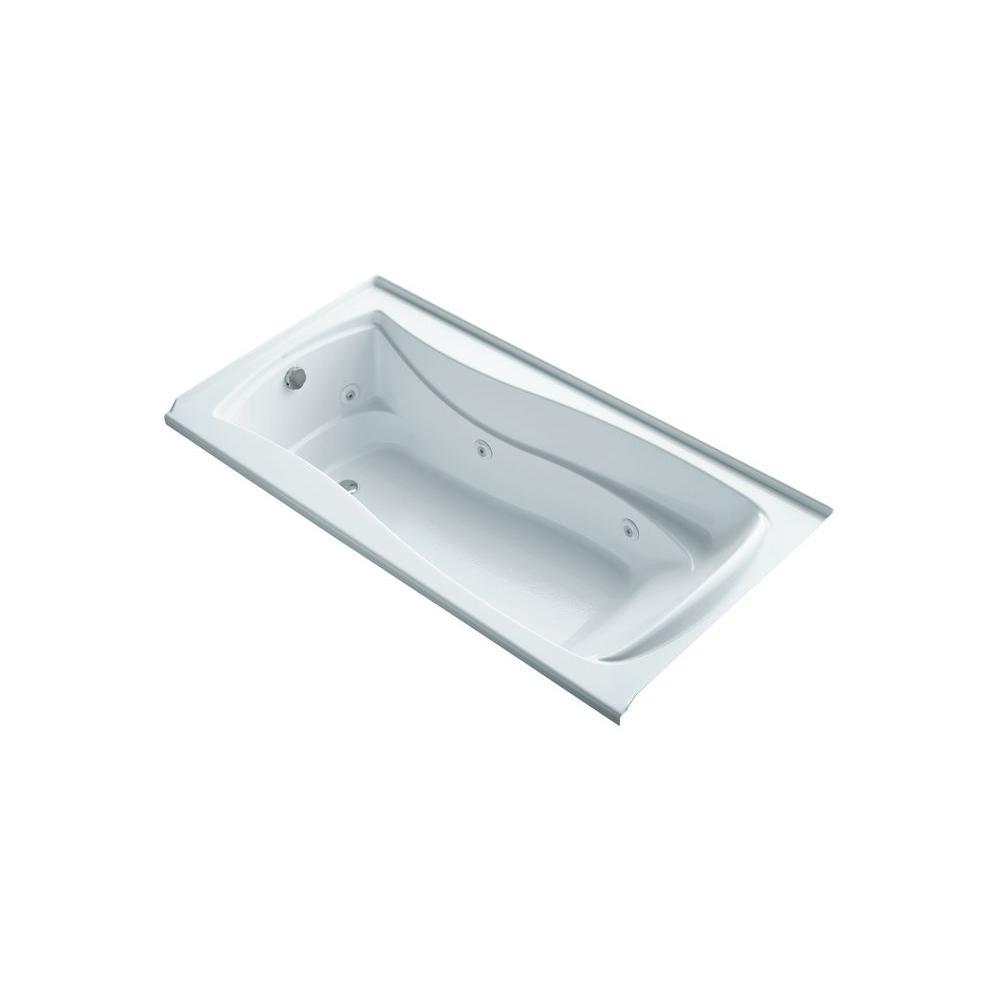KOHLER Mariposa 6 ft. Air Bath Tub in White-K-1257-LW-0 - The Home Depot
