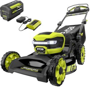 RYOBI 21 in. 40-Volt Lithium-Ion Brushless Cordless Walk Behind Self-Propelled Mower with 7.5 Ah Battery/Charger Included