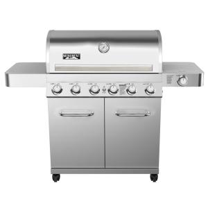 Monument Grills 6-Burner Propane Gas Grill with LED Controls