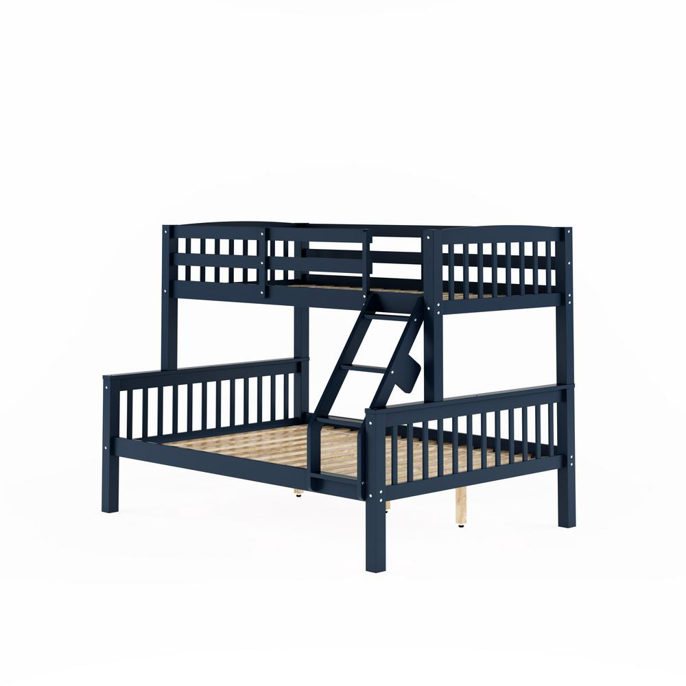 Corliving Dakota Navy Blue Twin And Single Over Full And Double Bunk