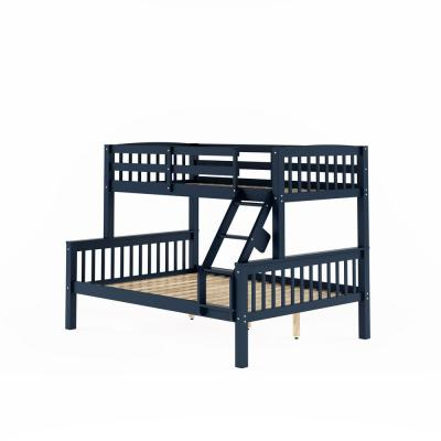 Dakota Navy Blue Twin and Single Over Full and Double Bunk Bed