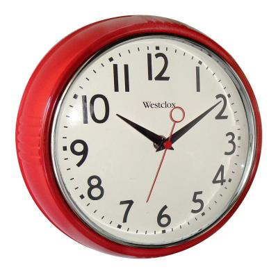 9.5 in. Red Retro Wall Clock