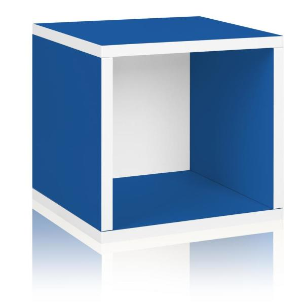 13 in. H x 13 in. W x 11 in. D Blue Recycled Materials 1-Cube Storage Organizer