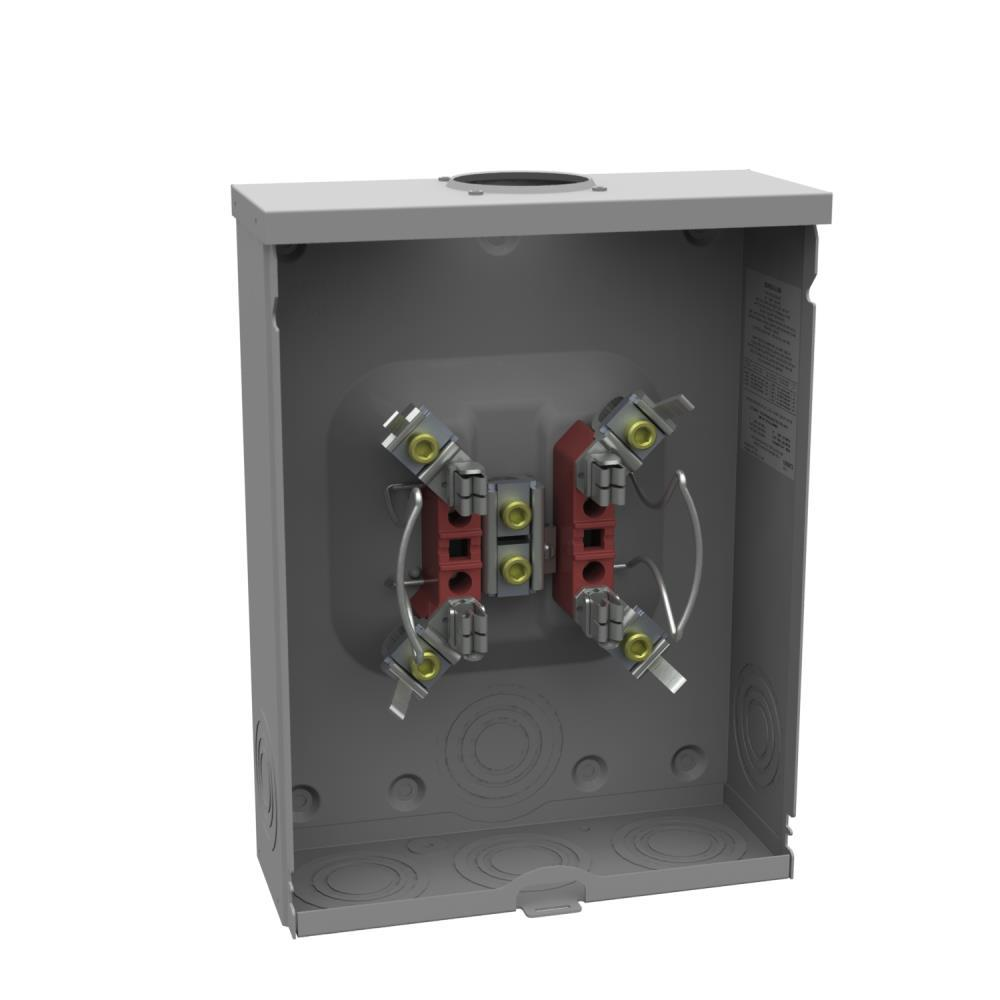 Square d 200 amp ringless overhead or underground meter socket 200 amp 4 terminal ringless overheadunderground horn bypass meter socket greentooth Images