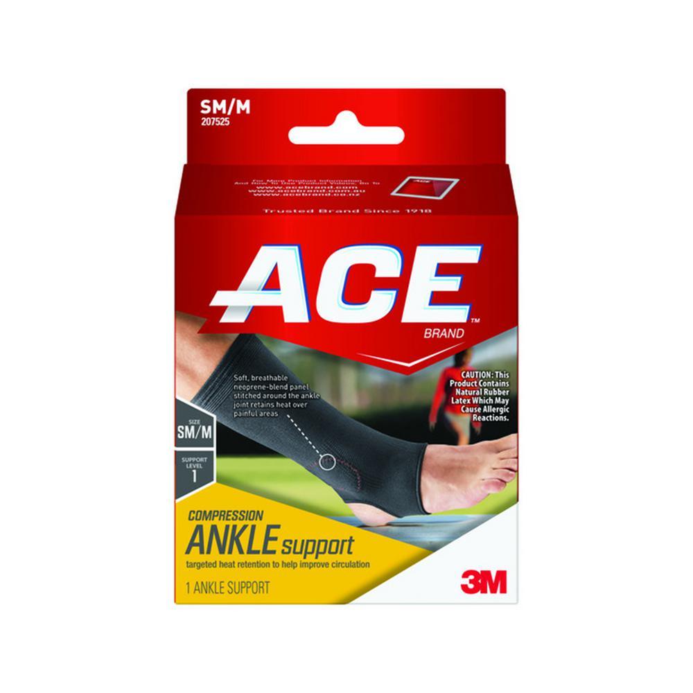 Small/Medium Elasto-Preene Ankle Support Brace in Black