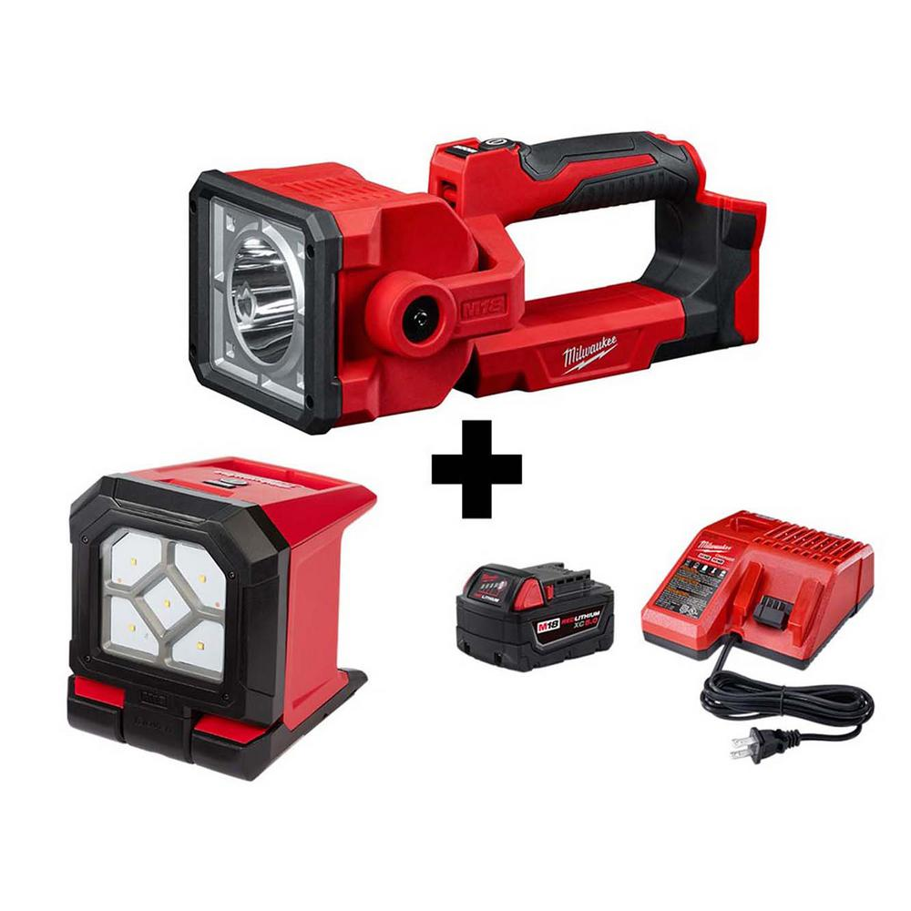 Milwaukee 2354-20 18-Volt M18 LED Cordless Portable Compact Search Light