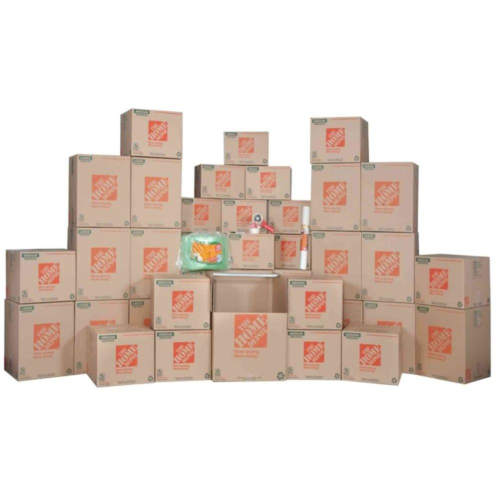 The Home Depot 7-Box Bathroom Moving Kit