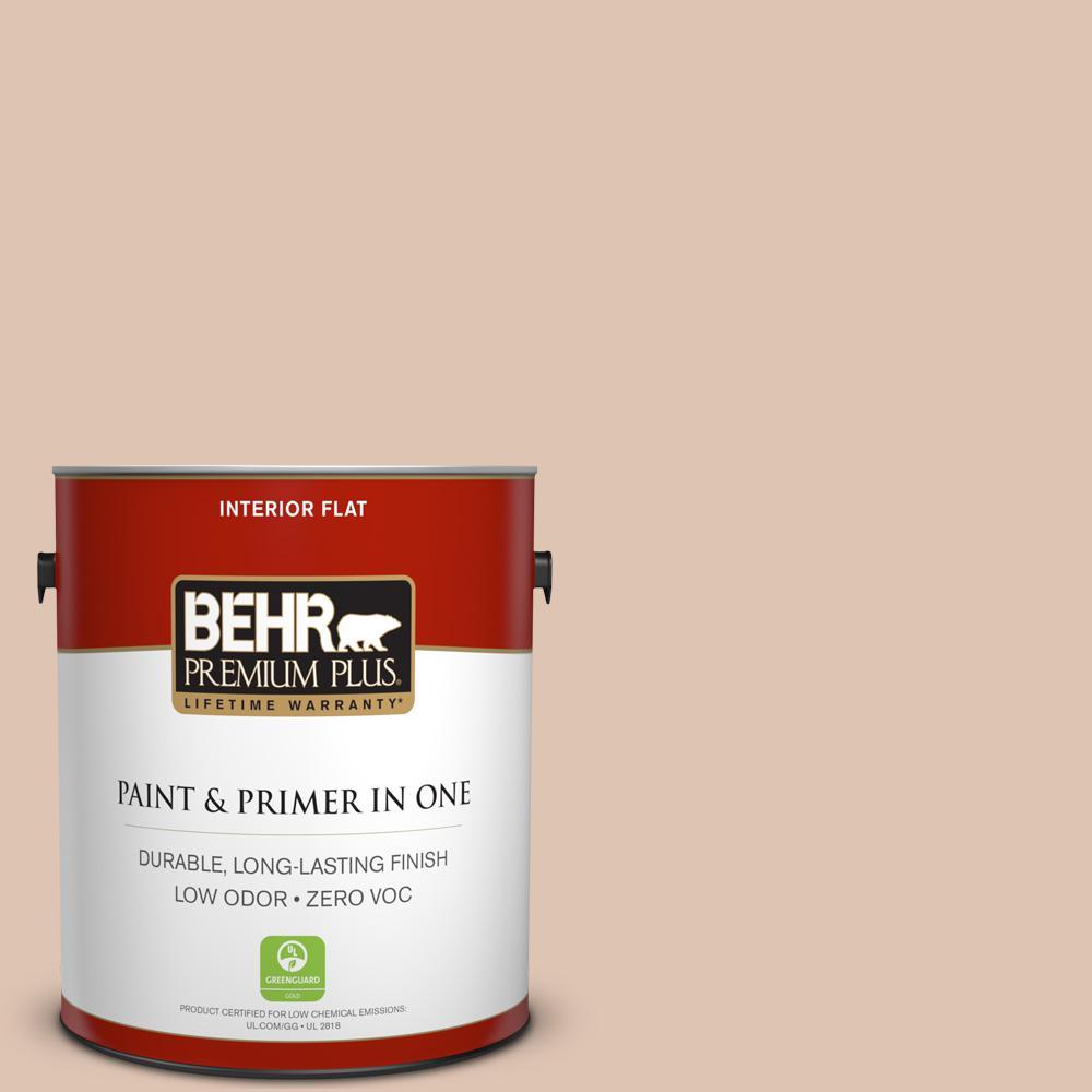 BEHR Premium Plus 1-gal. #280E-2 Arabian Sands Zero VOC Flat Interior Paint
