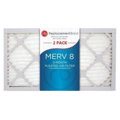 9 in. x 15 in. x 1 in. MERV 8 Air Purifier Replacement Filter (2-Pack)