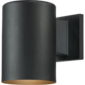 Small 1-Light Black Aluminum Integrated LED Indoor/Outdoor Mini Wall Mount Cylinder Light/Wall Sconce