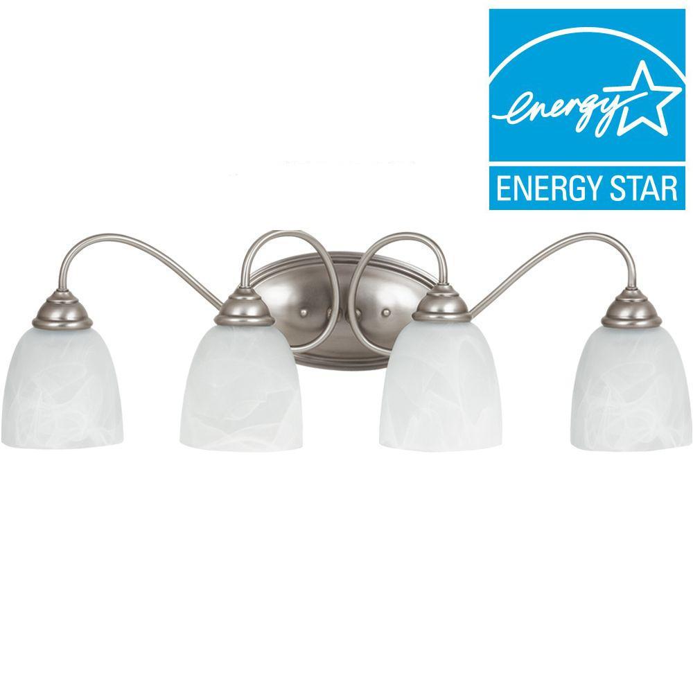 Sea Gull Lighting Lemont 4-Light Antique Brushed Nickel Vanity Light