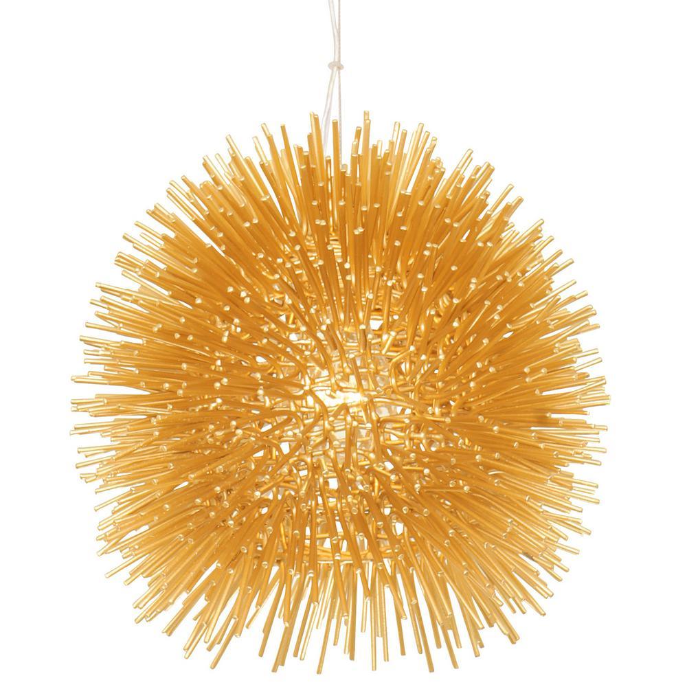 Varaluz Urchin 1-Light Gold Mini Pendant