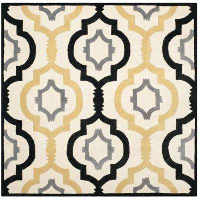 Chatham Ivory/Multi 7 ft. x 7 ft. Square Area Rug